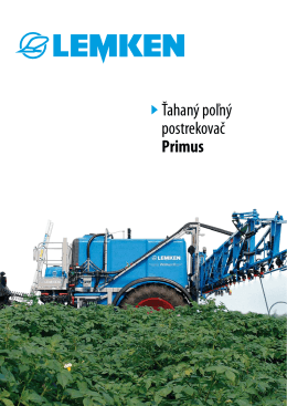 Ťahaný poľný postrekovač Primus