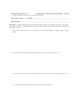 Semestrálna práca c. 3 Numerická a diskrétna matematika
