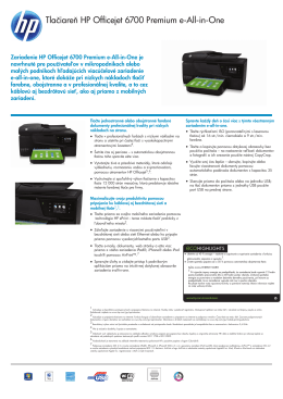 IPG HW Consumer Officejet AIO Datasheet - HP