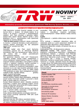 Trw noviny 9 - TRW | Automotive
