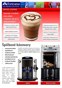 Ponuka kávovarov