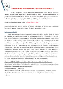 Európsky deň ústneho zdravia (pdf, 129 kB) - RÚVZ-DS