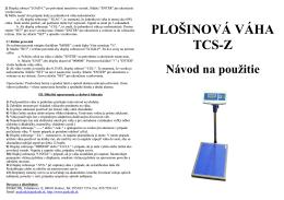 PLOŠINOVÁ VÁHA TCS-Z
