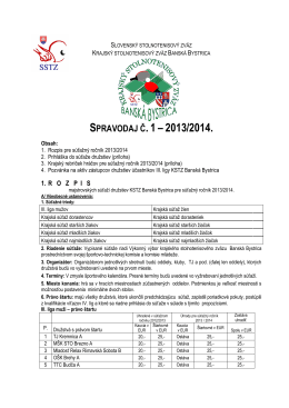 18.8.2013 - Spravodaj KSTZ BB č.1
