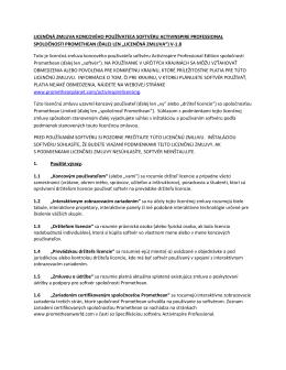 licenčná zmluva koncového používateľa softvéru activinspire