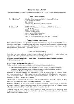 Zmluva o dielo č - ZŠ s MŠ, Diviaky nad Nitricou č. 121