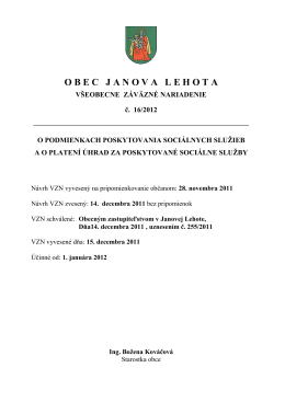 VZN 16-2012 - Janova Lehota
