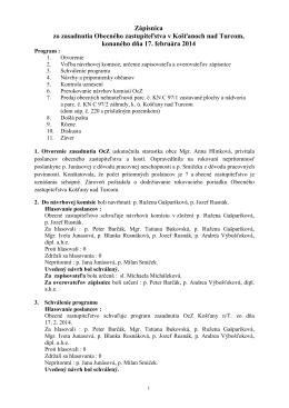 Zapisnica 2014-02-17