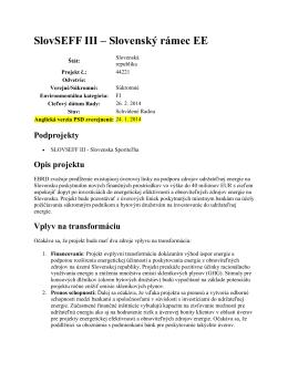 SlovSEFF III – Slovenský rámec EE