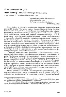 Henri Maldiney - une phénoménologie ŕ l`impossible