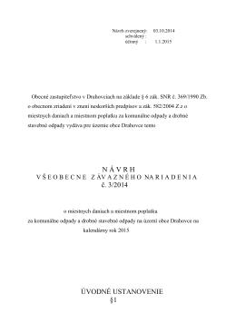 Vzn o daniach a poplatkoch 32013 na r. 2014
