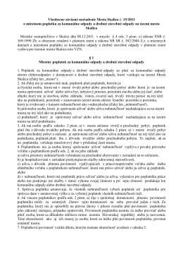 VZN č. 15/2011 o o miestnom poplatku za komunálne