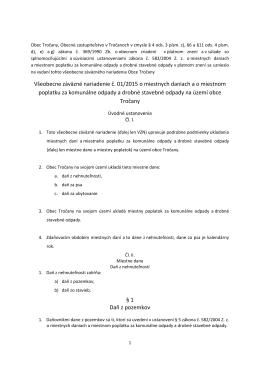 VZN o miestných daniach č. 012015