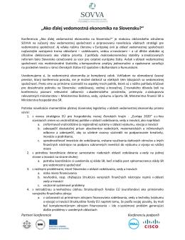 Ako dalej vedomostna ekonomika na Slovensku?