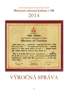 Výročná správa MTK v SR za rok 2014