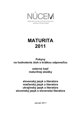 MATURITA 2011