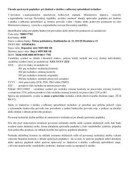 Úhrada správnych poplatkov pri žiadosti o skúšku z odbornej