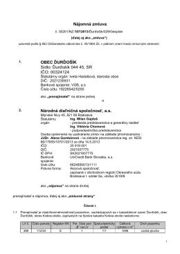 Nájomná zmluva č.30201-NZ-107-2013Ďurďošík