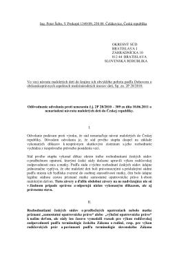 Ing. Peter Šebo, V Prokopě 1349/89, 250 88 Čelákovice, Česká