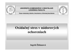 Rakovina a OS - Univerzita Komenského