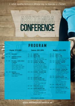 Program na stiahnutie - Ashtanga Yoga Conference