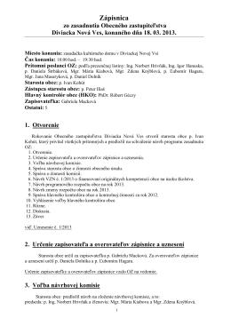 Zápisnica z OZ 18.03.2013