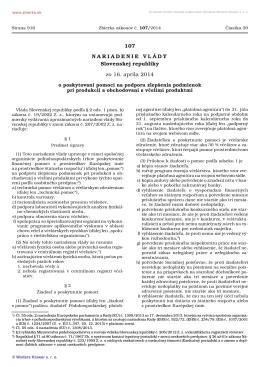 č. 107/2014 Z. z. - Slovenský zväz včelárov