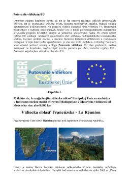 Vidiecka oblasť Francúzska - La Réunion