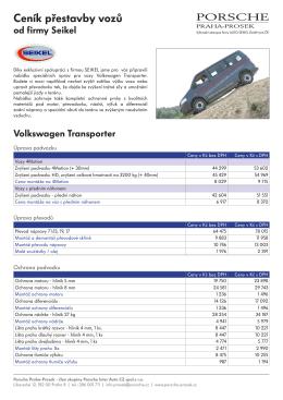 Ceník přestavby vozů