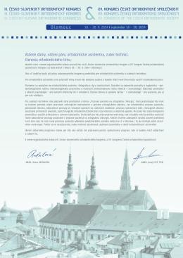 Olomouc - kongres České ortodontické společnosti