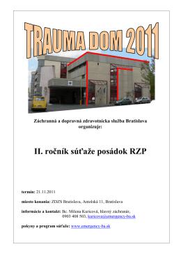 Trauma dom 2011 - Záchranná zdravotná služba Bratislava