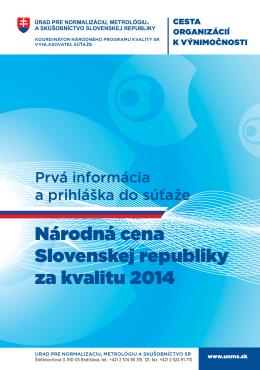 Národná cena SR za kvalitu 2014
