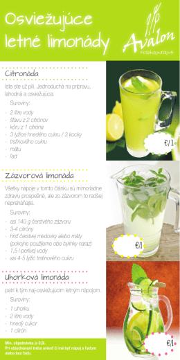 Osviežujúce letné limonády