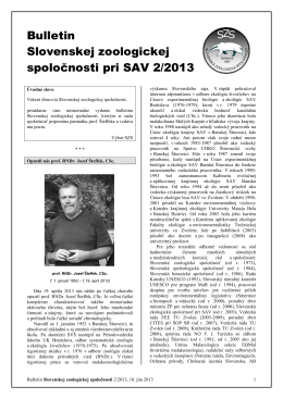 2013/2 - Slovenská zoologická spoločnosť pri SAV