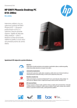 HP ENVY Phoenix Desktop PC 810