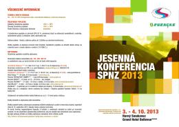 jesenná konferencia spnz 2013 - Slovenská plynárenská agentúra, sro