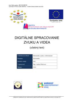 digitálne spracovanie zvuku a videa