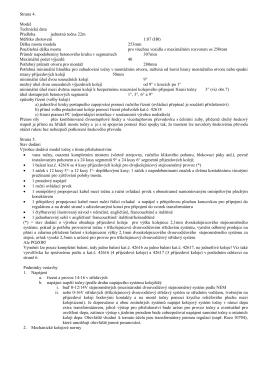 Strana 4. Model Technická data Předloha jednotná točna 22m