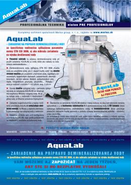 Aqualab - leták