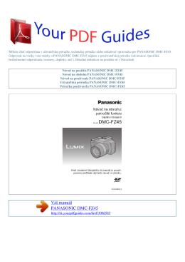 Návod na používanie PANASONIC DMC-FZ45