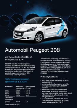 Automobil Peugeot 208