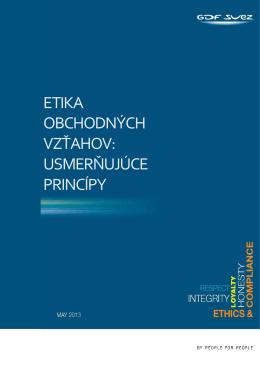etika obchodných vzťahov: usmerňujúce princípy