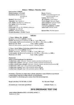 Halové Military Motešice 2015 komplet