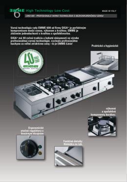 Varná technológia rady EMME 600 od firmy GIGA® je perfektným