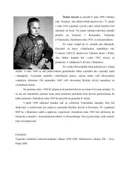Štefan Jurech sa narodil 9. júna 1898 v Bošáci (okr