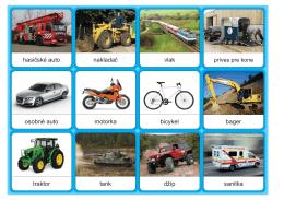 osobné auto motorka bicykel bager traktor tank džíp