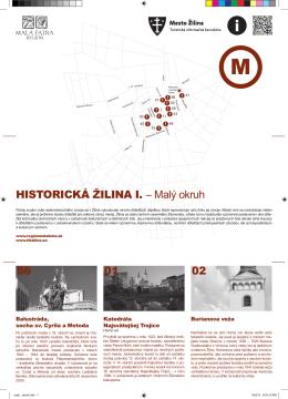 86 HISTORICKÁ ŽILINA I. – Malý okruh 01 02