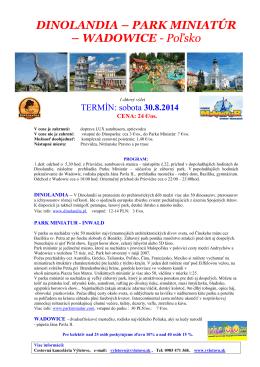 DINOLANDIA – PARK MINIATÚR - Cestovná agentúra Výletovo