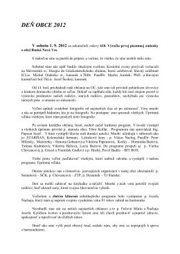 DEŇ OBCE 2012 - Obec Ruská Nová Ves