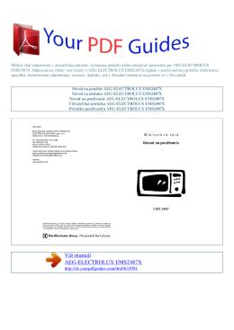 EMS2487X - Príručka používateľa